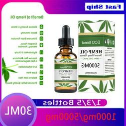 1000/5000mg Oil for Pain Relief Anxiety Sleep Anti Inflammat