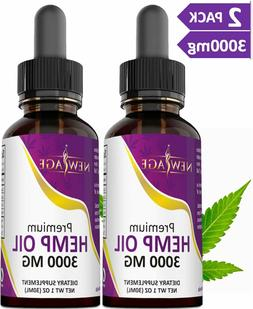 3000mg Hemp Oil Extract for Pain & Stress Relief - 3000mg o