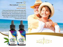 2-Pack New Age 5000 mg Hemp Oil Extract for Pain, Anxiety &