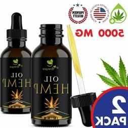 2 pack Hemp Oil Organic For Pain Relief, Stress Anxiety, Sle