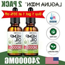 2 Pack Hemp Seed Oil Drops For Pain Relief, Stress , Anxiety