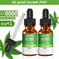 2Pack Organic Hemp Oil Extract Pain Relief Reduce Stress Joi