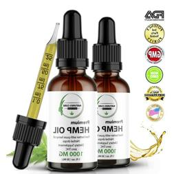 2 Pack Organic Hemp Oil  for Pain Relief,Anxiety,Reduce Stre