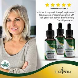 3-Pack New Age 1000mg Hemp Oil Extract for Pain & Stress Rel