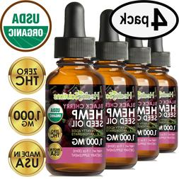 CHERRY Hemp Oil Drops for Pain Relief, Stress, Anxiety, Slee