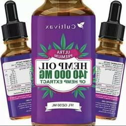Cultivax Hemp Oil 140,000mg for Pain Relief, Relaxation, Bet