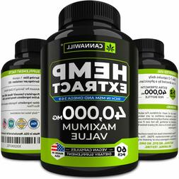 Hemp Oil Capsules 40000MG-Best for Anxiety & Stress Relief-O