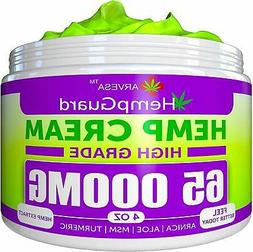 Hemp Oil Cream 65000 MG Joint, Nerve, Lower Back Pain Relief
