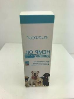 SUPPOU Hemp Oil Dogs 25000 MG 2FL oz/ 60ML Anxiety Joint Ome
