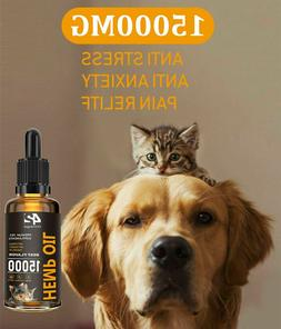Hemp Oil For Dogs and Cats 15000mg 2oz Beef Flavor - Calming