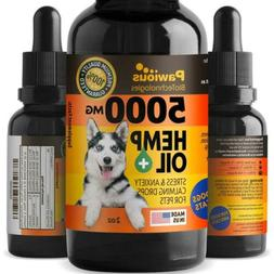 Hemp Oil for Dogs Cats - 5000mg - Joint Pain and Anxiety Rel