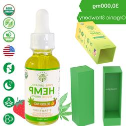 Hemp Oil Pure Organic Drops for Pain Relief, Anxiety, Stress