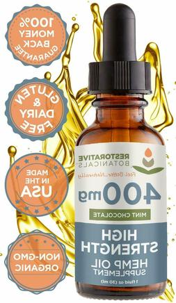 High Strength Hemp Oil for Anxiety and Pain Relief - 400mg D