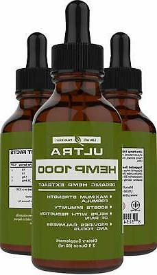 100% Pure Hemp Oil for Pain Relief . Best Selling Hemp Extra