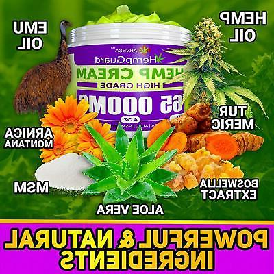 Hemp Oil Cream MG Lower Back Pain Relief Muscle
