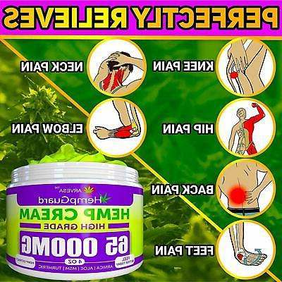 Hemp 65000 MG Nerve, Back Relieves Muscle