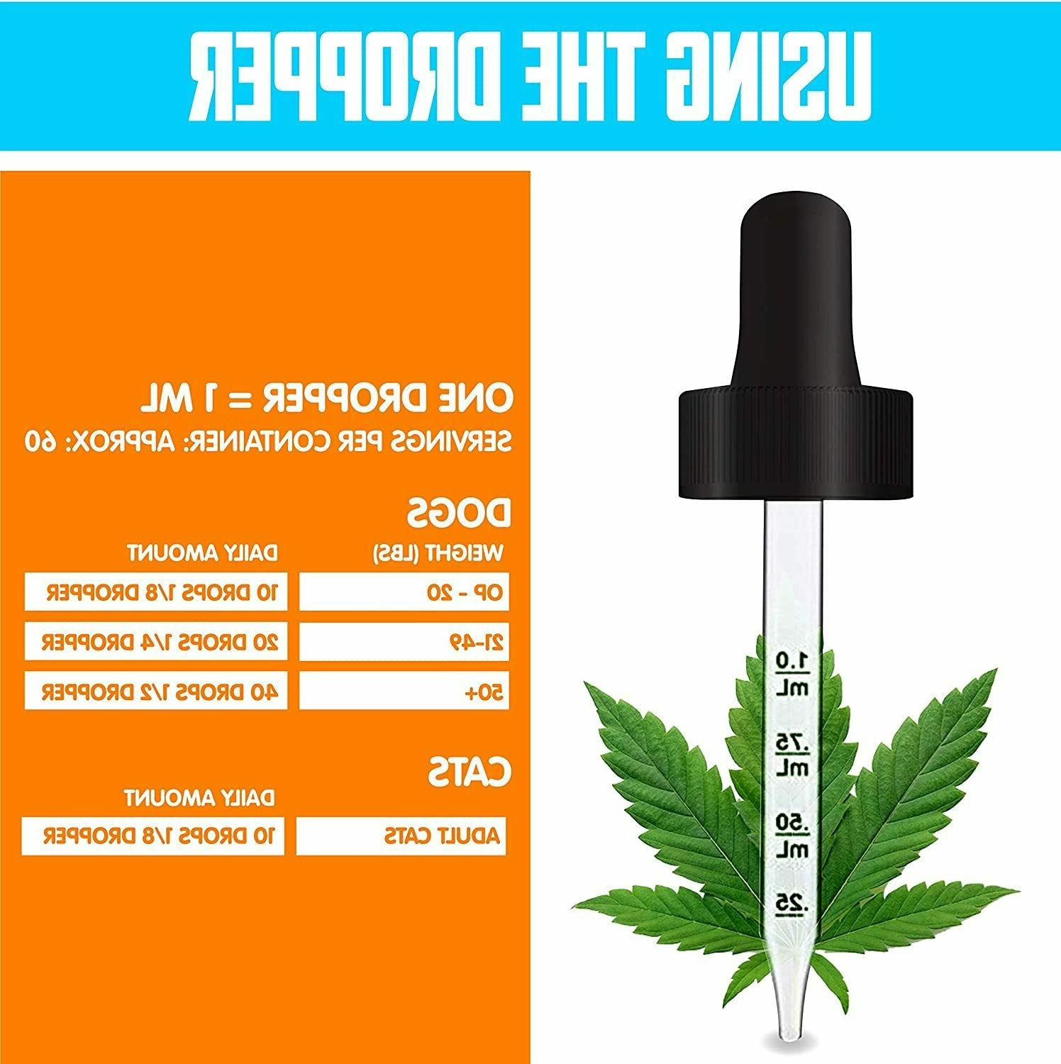 Organic 40000 Hemp Oil for Dogs - Anxiety Dogs &