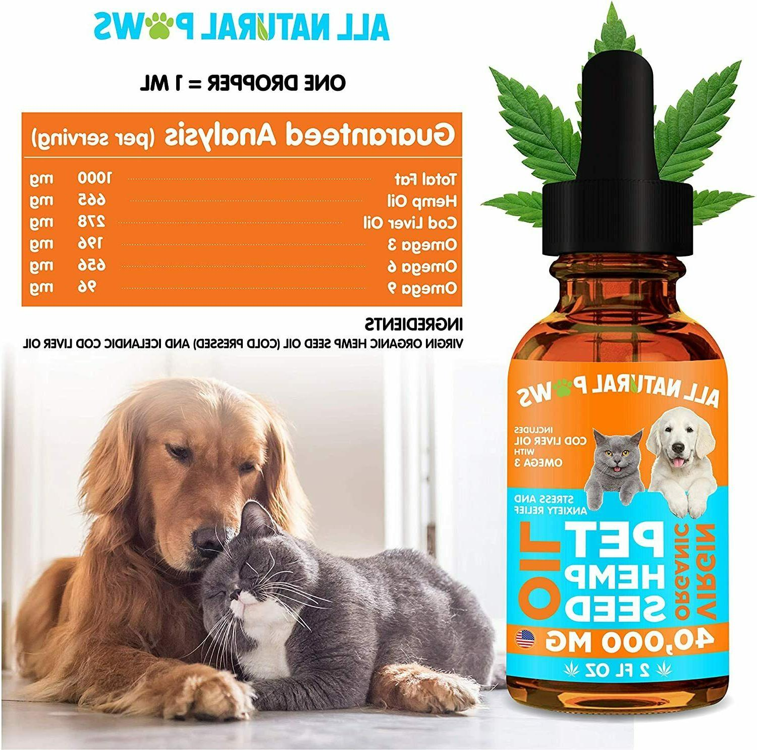 Organic MG Oil for Dogs Cats - Relief Dogs &