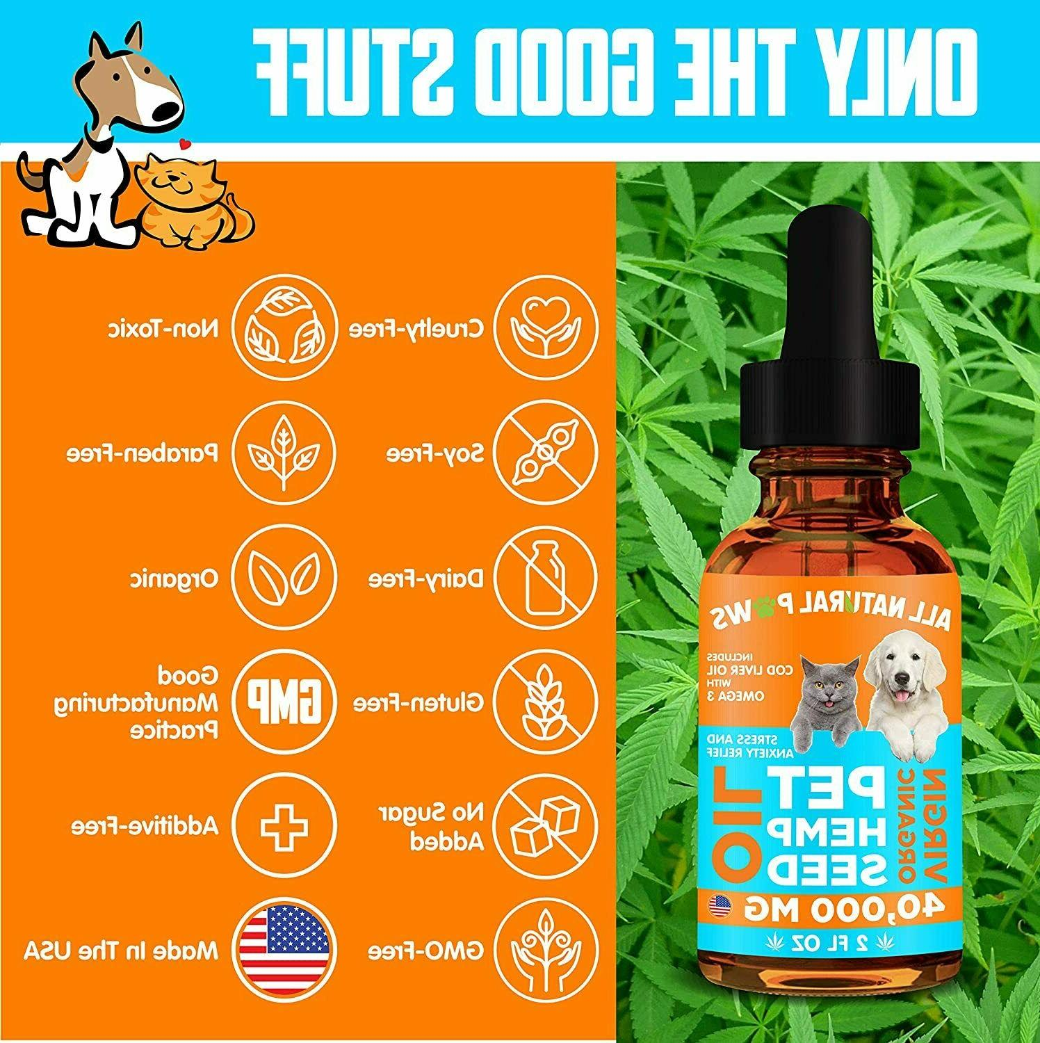 Organic Oil for - Anxiety Dogs Cats