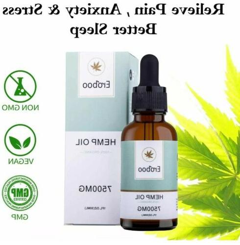 Premium Natural Oil Lab Tested 7500mg Extract, & Stress Relief
