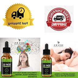 Oil Drops -1000mg - for Pain Relief, Stress, Anxiety Sleep S