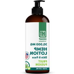 organic hemp infused body lotion for pain