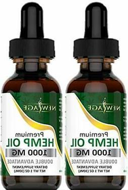 Organic Hemp Oil Extract 1000mg for Pain & Stress Relief