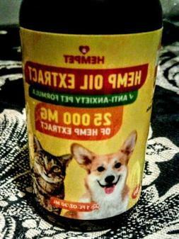 Hemp Oil for Dogs and Cats Pain Relief and Anxiety 25000mg 1