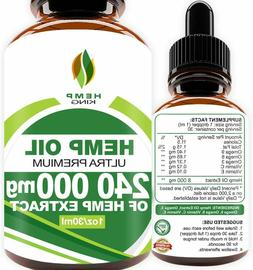 Hemp King Ultra Premium Hemp Oil Drops 240,000 mg for anxiet